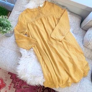 H&M Golden Yellow Shift Dress | 6